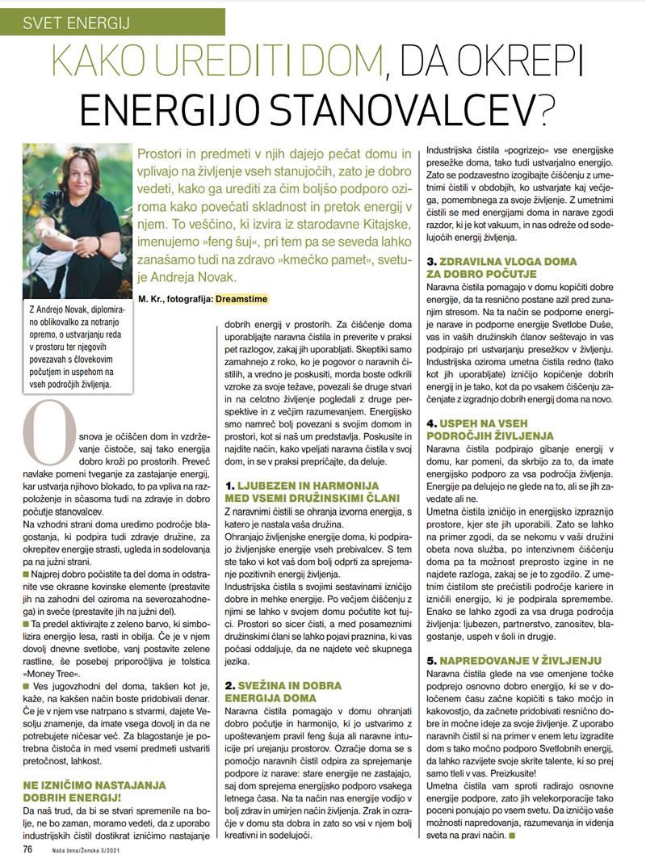 Ureditev doma za ukrepitev energij
